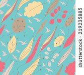 autumn seamless pattern with... | Shutterstock .eps vector #219235885