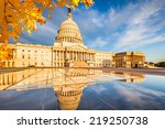 Stock photo us capitol at early morning 219250738