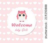welcome baby card. vector... | Shutterstock .eps vector #219250888