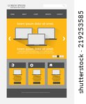 web design template | Shutterstock .eps vector #219253585