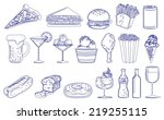 illustration of the drinks and... | Shutterstock .eps vector #219255115