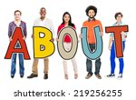 multi ethnic group of people... | Shutterstock . vector #219256255