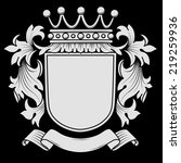 coat of arms with mantling  ... | Shutterstock .eps vector #219259936