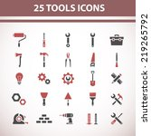 tools icons | Shutterstock .eps vector #219265792