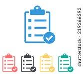 clipboard icon | Shutterstock .eps vector #219266392
