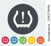 tire pressure. single flat icon ... | Shutterstock .eps vector #219273496