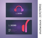business card template for dj... | Shutterstock .eps vector #219278902