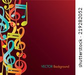 colorful music background. | Shutterstock .eps vector #219282052