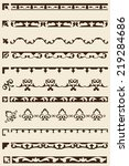 ornate art border set is on... | Shutterstock . vector #219284686