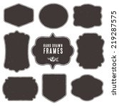set of vintage blank frames and ...   Shutterstock .eps vector #219287575