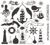 vintage hand drawn elements in... | Shutterstock .eps vector #219288202
