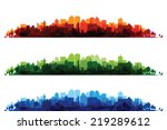 over print cityscapes | Shutterstock .eps vector #219289612