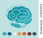 flat design  brain | Shutterstock . vector #219292012