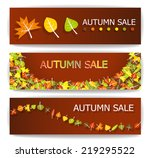 colorful autumn sale banners... | Shutterstock .eps vector #219295522