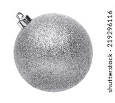 Silvertmas Ball Isolated On...