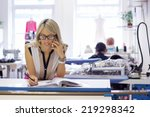 young self employed woman... | Shutterstock . vector #219298342