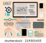 gadget flat design vector  eps... | Shutterstock .eps vector #219301435