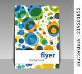 flyer or cover design with... | Shutterstock .eps vector #219301852