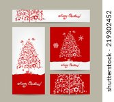 merry christmas  set of... | Shutterstock .eps vector #219302452