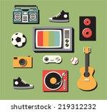 vector illustration icon set of ... | Shutterstock .eps vector #219312232