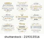 set of quotes typographical... | Shutterstock .eps vector #219313516