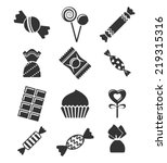 Sweets And Candies Icons.