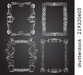set of chalk painted frames on... | Shutterstock .eps vector #219320605