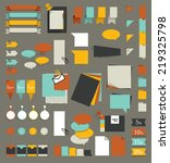 big set of flat reminder... | Shutterstock .eps vector #219325798