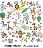 children's drawings  | Shutterstock .eps vector #219331168