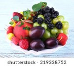 Different Berries And Fruits I...
