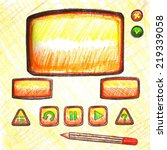 ui elements drawn in pencil....