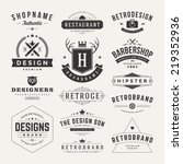 Retro Vintage Insignias or Logotypes set. Vector design elements, business signs, logos, identity, labels, badges and objects.  | Shutterstock vector #219352936