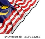 malaysia flag with white | Shutterstock . vector #219363268
