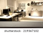 black desk and office place  | Shutterstock . vector #219367102