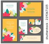 wedding invitation | Shutterstock .eps vector #219367105