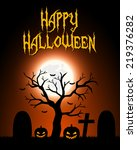 halloween card | Shutterstock .eps vector #219376282