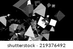 triangle polygons | Shutterstock . vector #219376492