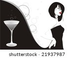 martini girl | Shutterstock .eps vector #21937987
