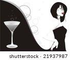martini girl | Shutterstock .eps vector #21937987