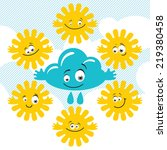 set of funny sky characters | Shutterstock .eps vector #219380458