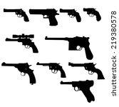 vector set   weapons  guns | Shutterstock .eps vector #219380578