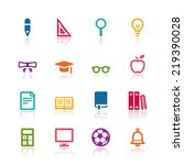 education icons | Shutterstock .eps vector #219390028