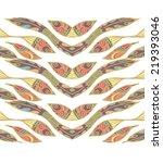 seamless peruvian pattern | Shutterstock .eps vector #219393046