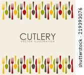 cutlery graphic design   vector ... | Shutterstock .eps vector #219393076