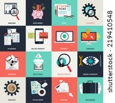 flat design concept icons for... | Shutterstock .eps vector #219410548