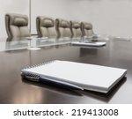 closeup of notepad for agenda... | Shutterstock . vector #219413008