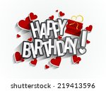 colorful happy birthday... | Shutterstock .eps vector #219413596