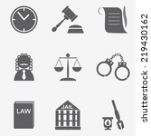 law judge icon set  justice sign | Shutterstock .eps vector #219430162