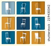 chair icon set. symbol furniture | Shutterstock .eps vector #219430342