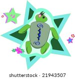 green sea turtle with hibiscus... | Shutterstock .eps vector #21943507